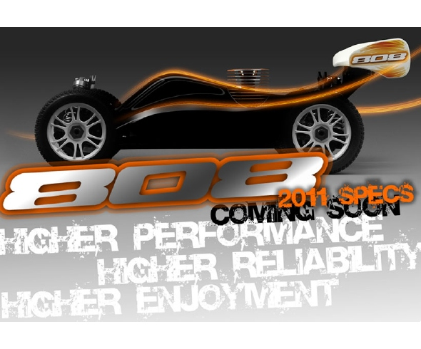XRAY, 2011 specs of the 808, rcca, radio control, rc car action, photo 2, high performance, high reliability