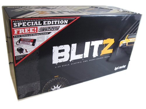 HPI RTR Blitz Maxxis now with Racers Edge Battery and Charger, special edition, photo 2, rcca, radio control, rc car action, free