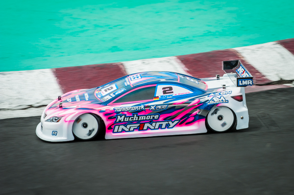 Marc may have switched chassis sponsors, but his signature driving style and livery is easy to spot on the track.