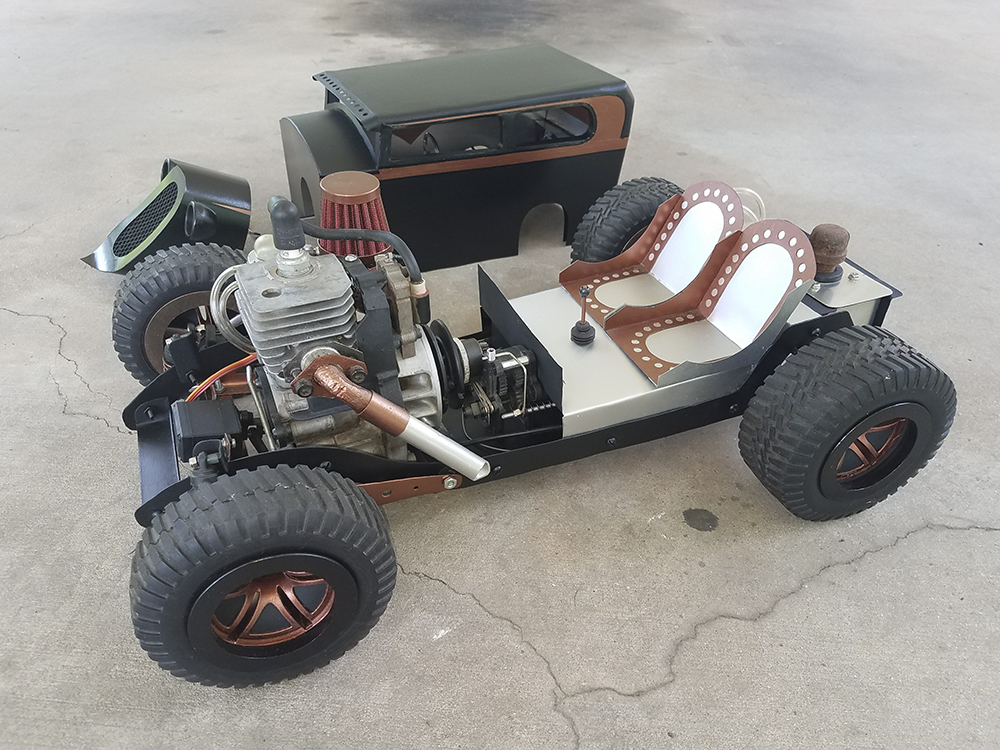 Custom, Hot Rod, 1/5-scale, Gas-powered, Homelite