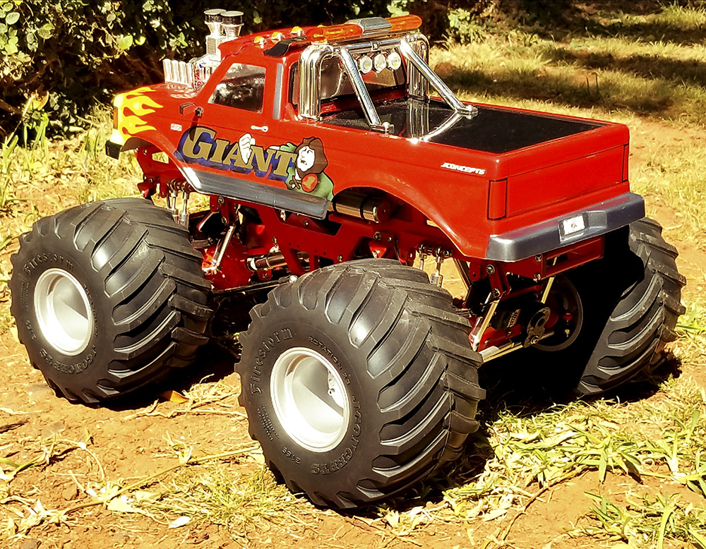 Monster Jam, Classic Monster Truck, Ford F-250, Grund Motorsports, Tamiya, HPI Wheely King, Traxxas, CPE, JConcepts, Muscle Machines, Novak