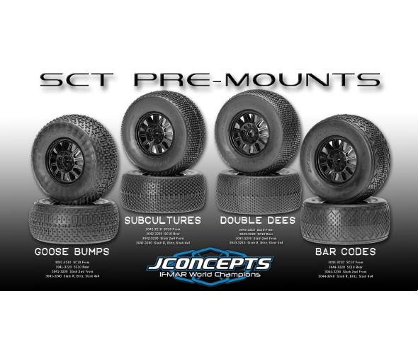 JConcepts Pre-mounted Short Course Tires