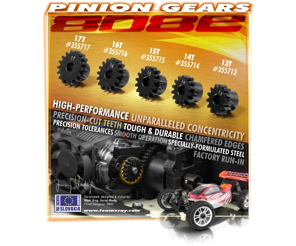 XRAY XB808E Pinion Gears