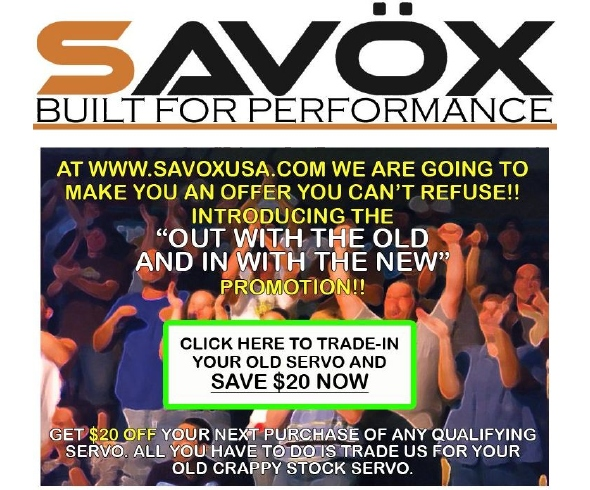 Savox Servo Trade in Program