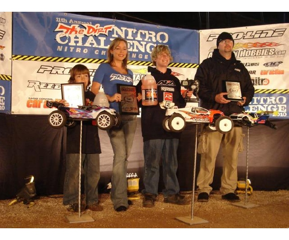 Carson Wernimont wins Open Truggy Class at 2010 Dirt Nitro Challenge