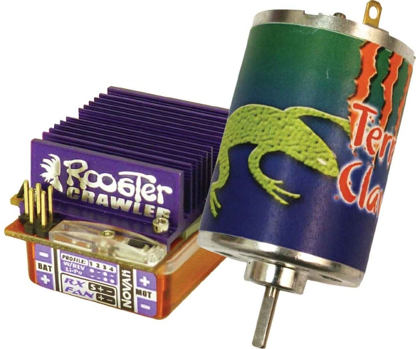 Novak Rooster Crawler ESC and Terra Claw 55T Brushed Motor Combo