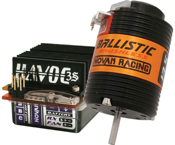 Novak Havoc 3S/Ballistic Brushless System with Traxxas & gold bullet plugs