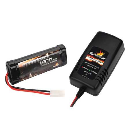 Dynamite RC 4-8C 1.2A A/C NiMH Charger/ 1800mAh Battery Combo