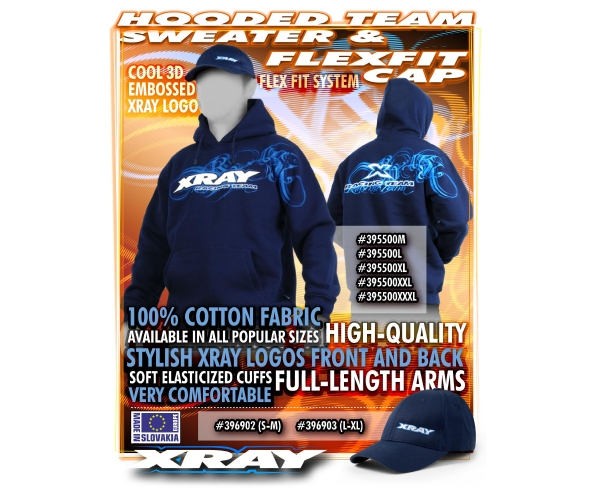 XRAY Hooded Sweatshirt and Flexfit Cap
