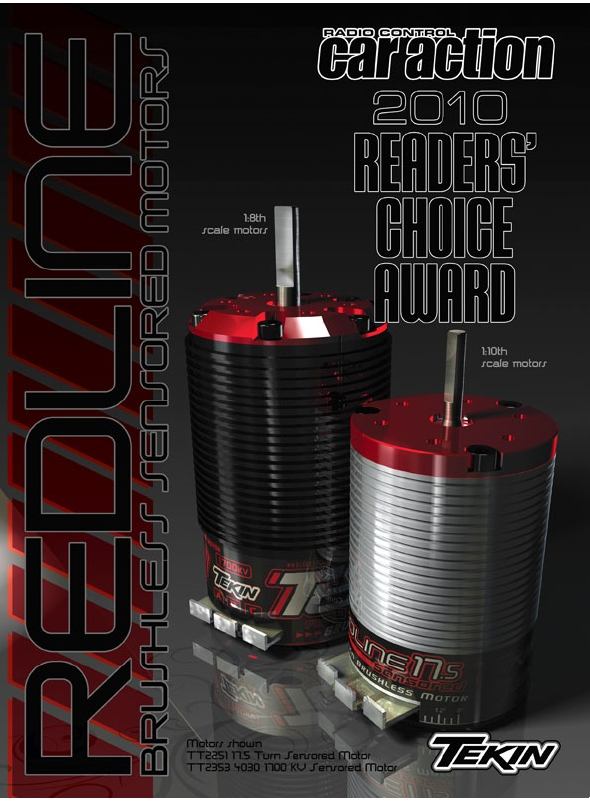 Tekin Wins 2010 RCCA Reader's Choice Award for Brushless Motors