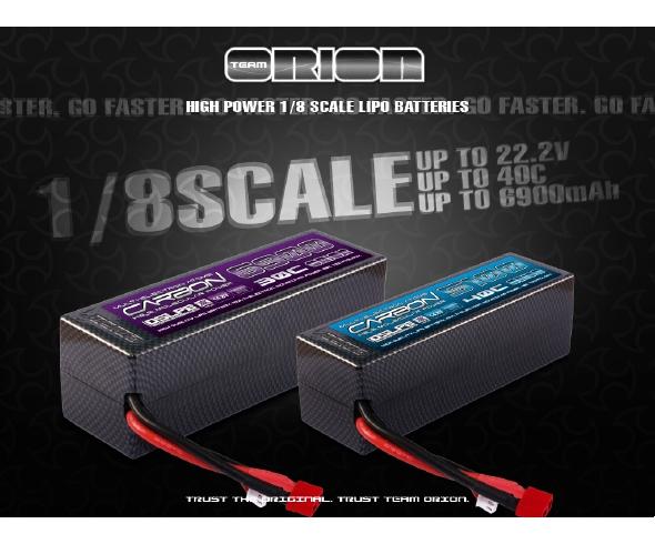 Team Orion 1/8 Carbon Molecular Hardcase LiPo Batteries