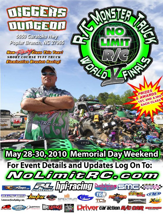 RCCA Live Coverage of 5th annual No Limit RC Monster Truck World Finals May 28th-30th