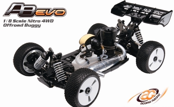 Agama Racing USA A8 Evo 1/8 4WD Nitro Off-Road Buggy Kit