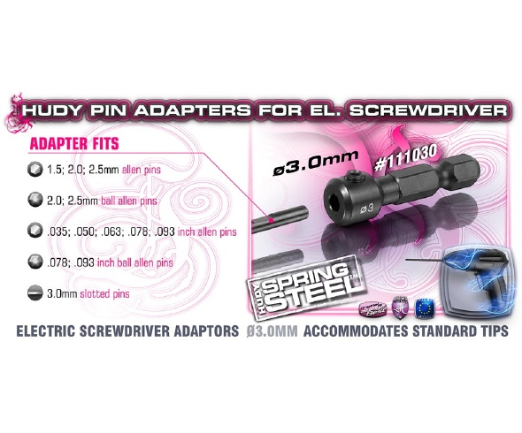 Hudy Pin Adapters for Electric Screwdriver