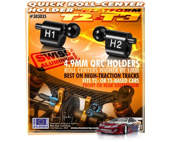 XRAY Aluminum Quick Roll-Center Holder™ 4.9mm H1 + H2