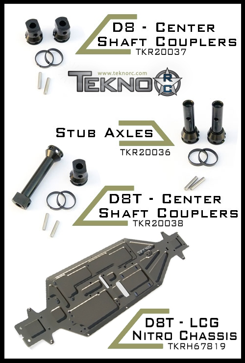 Tekno RC Releases for HPI D8, D8T, Ve8, and Vorza