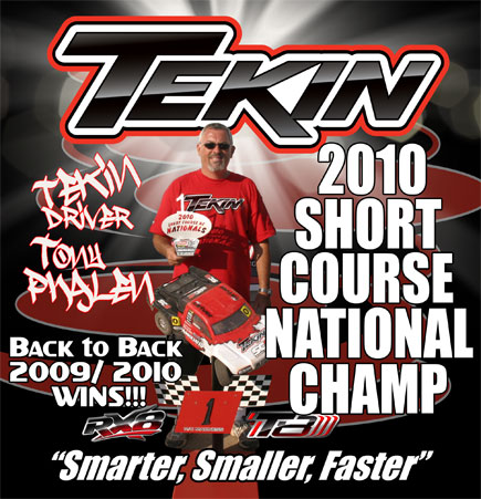 Tony Phalen and Tekin win at the 2010 Short Course Nationals