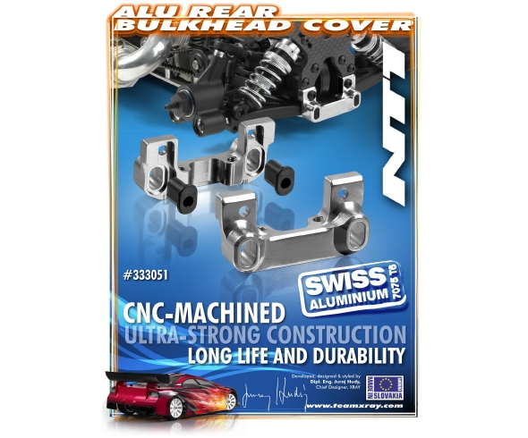 XRAY Aluminum Rear Bulkhead Cover