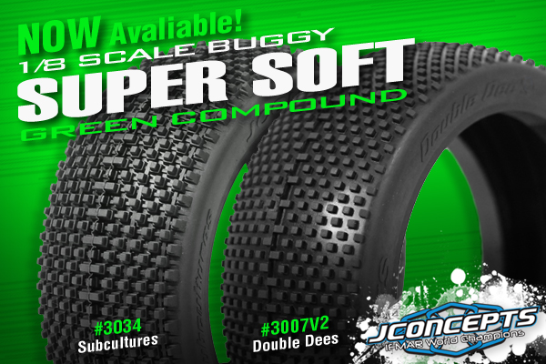 JConcepts 1/8 Buggy & Short Course Pre Mounted Tires, Double Dees in Orange compound