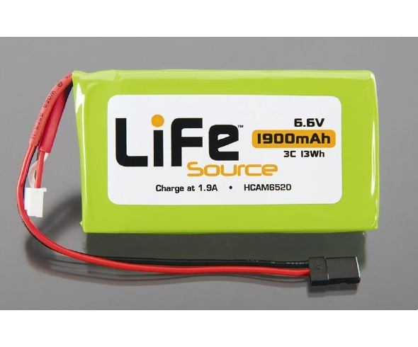 LiFeSource 6.6V 1900mAh 3C Battery and AC/DC Economy Charger