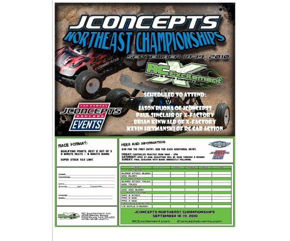 Northeast Electric Champs Presented by JConcepts Sept 17 – 19