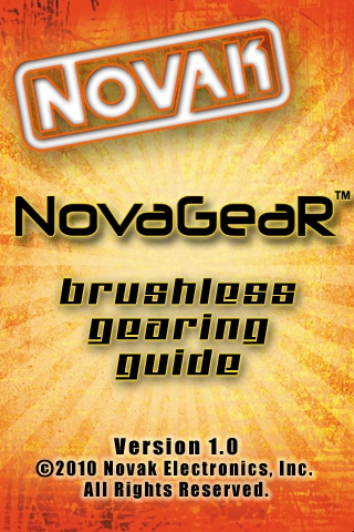 Novak NovaGear application for iPhone, iPad and iPod Touch