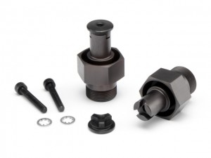 HPI, front hex hubs, shaft sets, wrench, pipes, parts, photo 2, rcca, radio control, rc car action