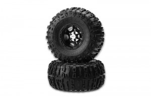 JConcepts pre-mounted tires, popular vehicles, Traxxas1/16 E-Revo and Slash, B44.1, rcca, rc car action, radio control, thick spiked tires, photo 6, black