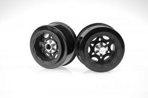 JConcepts pre-mounted tires, popular vehicles, Traxxas1/16 E-Revo and Slash, B44.1, rcca, rc car action, radio control, black, silver, photo 3