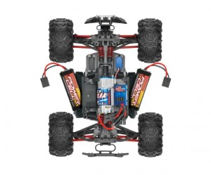 Traxxas Brushed 1/16 RTR Summi, model 7205, TQ™ AM radio system, Titan® 12T 550 motor, XL-2.5 electronic speed control, 7.2 volt NiMH battery & charger, ExoCage painted body, rcca, radio control, rc car action, photo 4, battery, motor