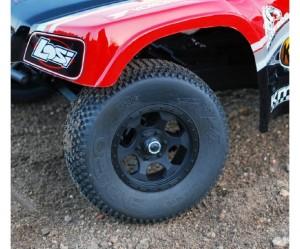 DE Racing, Trinidad Wheels, Team Losi Racing, TLR, XXX-SCT, rcca, rc car action, radio control, photo 2, black, tire