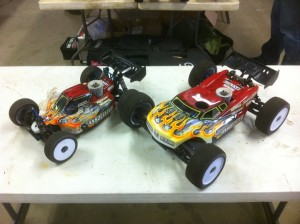 Ryan Maifield, JConcepts, 1/8 Pro Buggy, CRCRC Midwest Championships, rcca, radio control, rc car action, radio trucks, wheels, photo 3, two cars