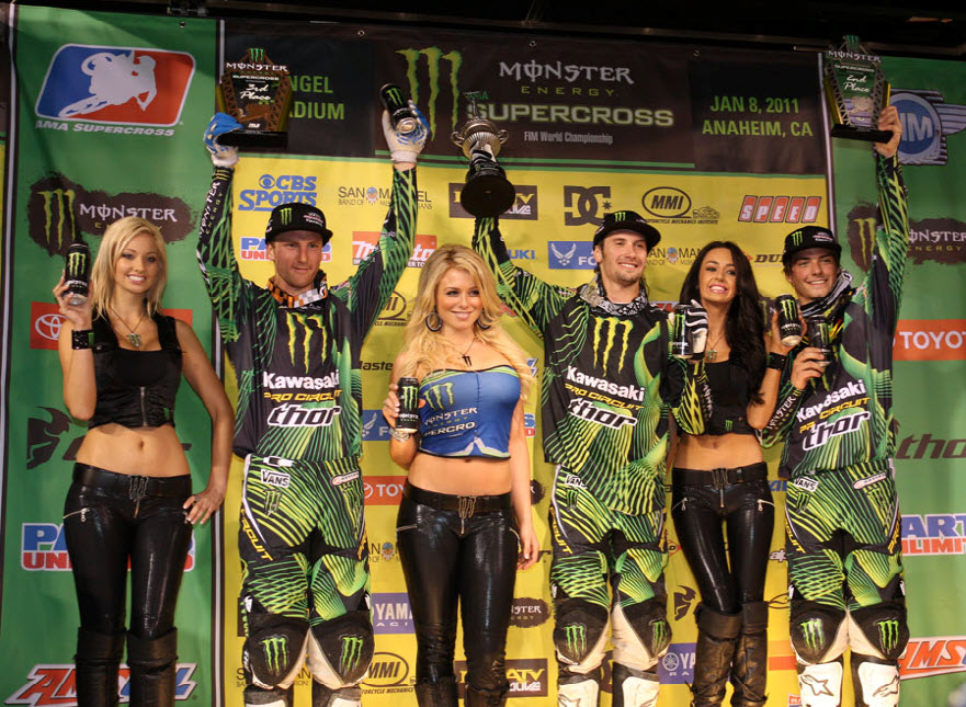 Traxxas sweeps the first race of the 2011 Monster Energy Supercross series