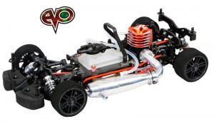 Serpent 733 Evo 1/10, 4wd Nitro Car, rcca, radio control, rc car action, photo 3, red