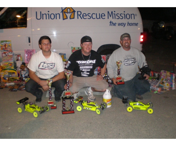 Team Losi Racing wins Union Rescue Mission Toys for Toys event at Revelation Raceway