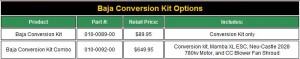 Castle Creations HPI, Baja Conversion Kit, Mamba XL 1/5 Brushless System, photo 1, kit options