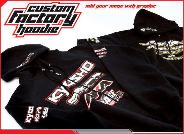 Upgrade RC Gear: Factory Hoodies & Shirts w/ Sleeve Logos, Neo Mats, XXX-SCT Skins