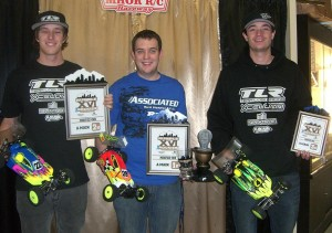 Team Associated, 16th Annual Rumble In The Rockies winners, rcca, radio control, rc car action, photo 2, winners, 3 guys