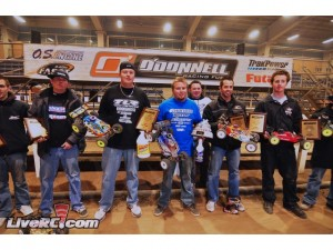 Team Associated, Motorama, pennsylvania farm show complex, ryan maifield, ryan cavalieri, brent thielke, nitro offroad, electric offroad, RC8T CE truggy, RC8B buggy, Reedy, rcca, radio control, rc car action, scotty ernst productions, photo 4, 5 winners, buggy podium
