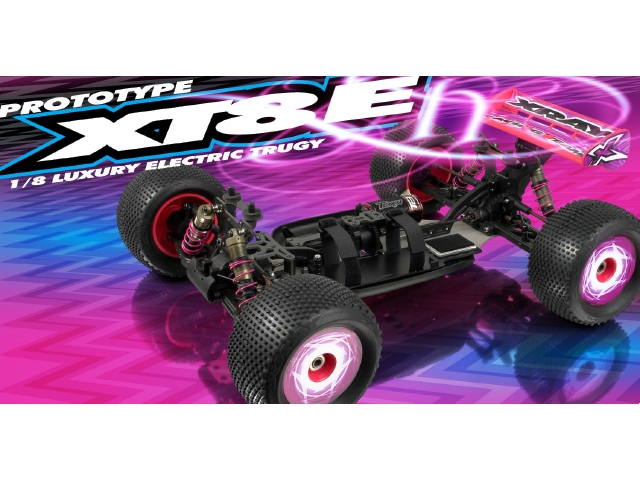 XRAY XT8E 1/8 Electric Truggy Prototype