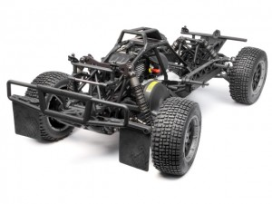 hpi, HPI 1/5 Baja 5SC, Short Course Truck, Kit SS Treatment, rcca, radio control, rc car action, photo 3, 3 wheels, black tires