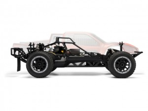 hpi, HPI 1/5 Baja 5SC, Short Course Truck, Kit SS Treatment, rcca, radio control, rc car action, photo 5, side view, 2 tires