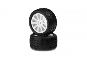JConcepts Pre-mounted 1/10 Buggy Tires, photo 2, up side, oreo