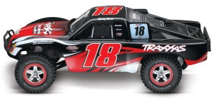 Traxxas Slash Kyle Busch Edition, rcca, radio control, rc car action, side view, red black, photo 4