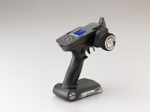 Kyosho Syncro KT-201 2.4ghz Radio, kyosho, radio control, rc car action, rcca, photo 3, 45 angle, blue screen