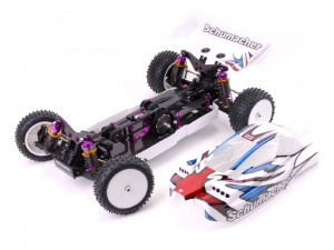 Schumacher CAT SX3 Competition 4WD Buggy, rcca, radio control, rc car action, photo 3, two cars, red
