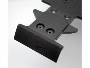 DE Racing XD Rear Skid Plate, BumpSkids For JQ Products, THECar, Team Durango, DNX408, rcca, radio control, rc car action, photo 3, black sharp