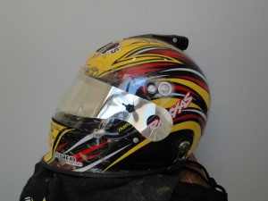 Kyle Busch, Kyle Busch race-worn Helmet TORC Debut, rcca, rc car action, radio control, photo 2, helmet auction, traxxas