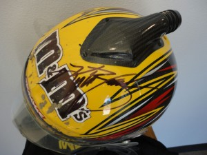 Kyle Busch, Kyle Busch race-worn Helmet TORC Debut, rcca, rc car action, radio control, photo 5, m&ms helmet, kyle busch signed helmet