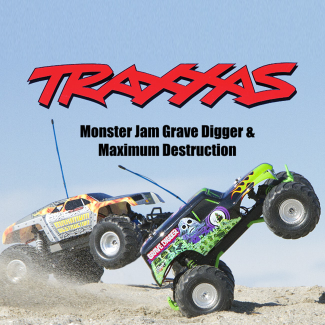 Exclusive Traxxas Monster Jam Grave Digger & Maximum Destruction Testing Video